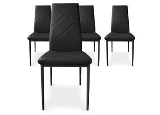 Lot de 4 Chaises Loto noir