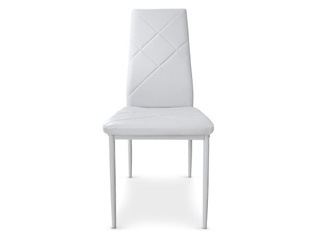 Lot de 8 Chaises Loto blanc