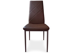 Lot de 8 Chaises Loto marron
