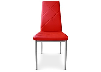 Lot de 8 Chaises Loto rouge