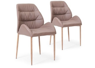 Lot de 2 Chaises Dona taupe