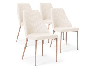 Lot de 4 Chaises Lola beige