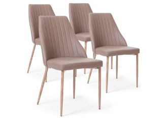 Lot de 4 Chaises Lola taupe