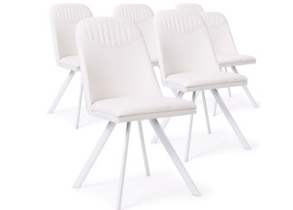 Lot de 6 Chaises Polga blanc