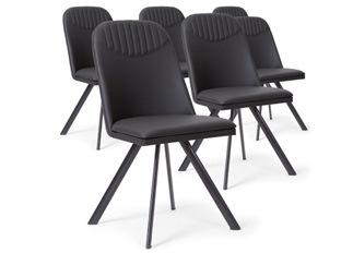Lot de 6 Chaises Polga noir