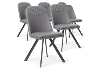 Lot de 6 Chaises Polga gris