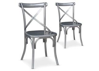 Lot de 2 Chaises Angela métal