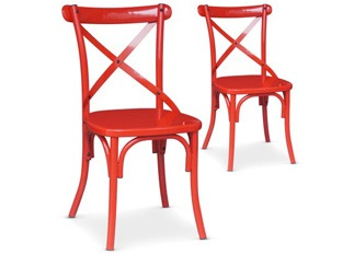 Lot de 2 Chaises Angela rouge