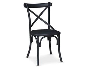 Chaises Angela noir mat