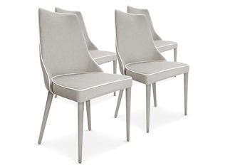 Chaises Design Marco Beige tissu VENDU PAR 4