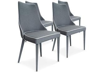 Chaises Design Marco Gris tissu VENDU PAR 4