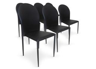 Chaises Design empilables Rodez noir VENDU PAR 6