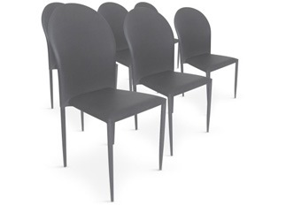 Chaises Design empilables Rodez gris VENDU PAR 6