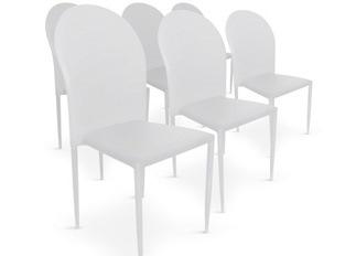 Chaises Design empilables Rodez blanc VENDU PAR 6