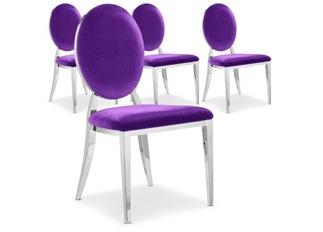 Chaises Design Sara Velours Violet VENDU PAR 4