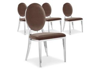 Chaises Design Sara Velours Taupe VENDU PAR 4