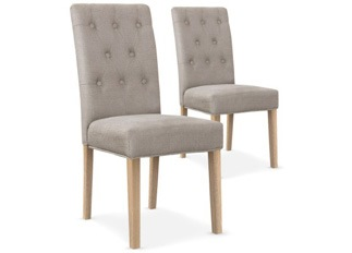 Lot de 2 chaises Castel beige