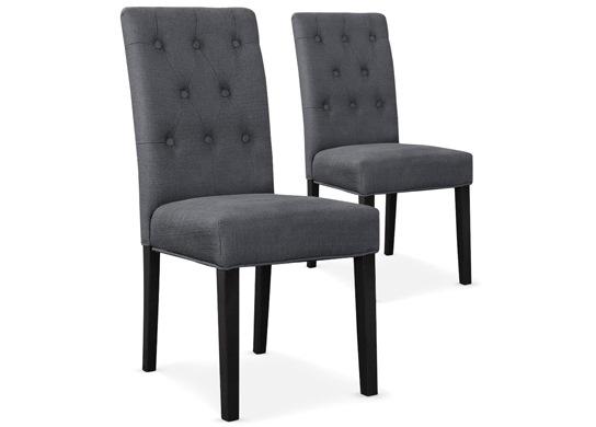 Lot de 2 chaises Castel gris