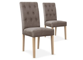 Lot de 2 chaises Castel taupe
