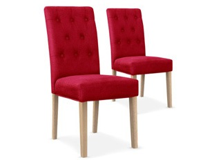 Lot de 2 chaises Castel rouge
