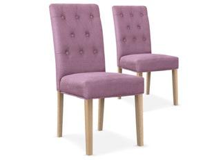Lot de 2 chaises Castel violet
