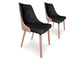 Chaises Design  Cl�op�tre Ch�ne Clair et Noir VENDU PAR 2