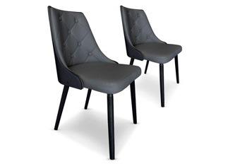 Chaises Design  Cl�op�tre Bois Noir et Gris VENDU PAR 2