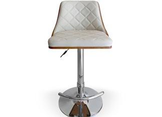 Chaise Design �Cl�op�tre Bois Noisette et Cr�me