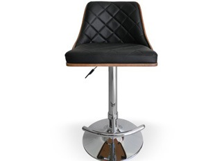 Chaise Design  Cl�op�tre Bois Noisette et Noir