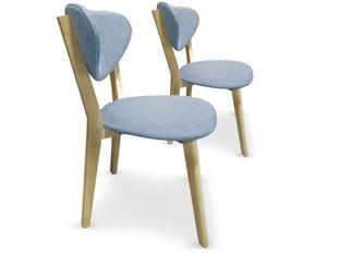 Lot de 2 chaises Cane bleu