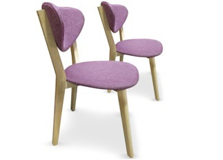 Lot de 2 chaises Cane Violet