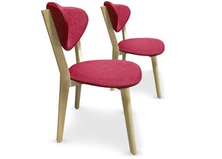 Lot de 2 chaises Cane Rouge