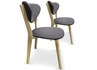 Lot de 2 chaises Cane Gris foncé
