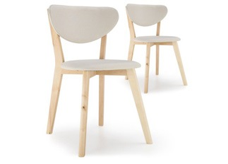 Lot de 2 chaises Cane Beige