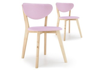 Lot de 2 chaises Cane Rose