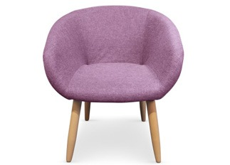 Chaise Frozen violet