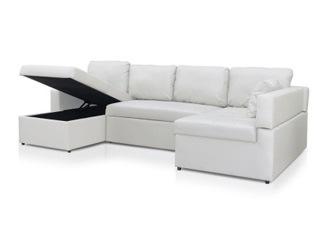 Canap� d'angle convertible Emilie blanc