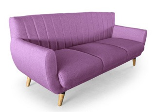 Canap� 3 places Mirabel lilas