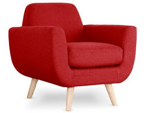 Fauteuil Donna rouge