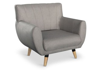 Fauteuil 1 place Mirabel taupe