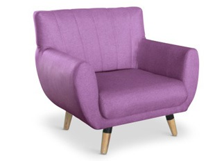 Fauteuil 1 place Mirabel lilas