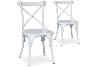 Lot de 2 Chaises Angela blanc