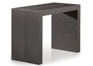 Table console gris carbone