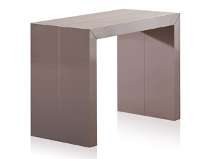 Table console taupe laquée