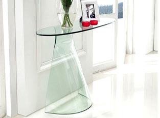 Console design en verre AROUM