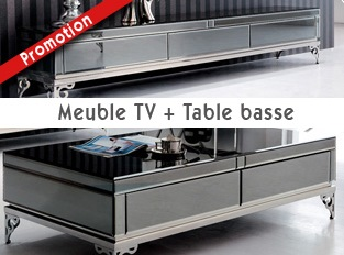 Ensemble meuble télé et table basse
