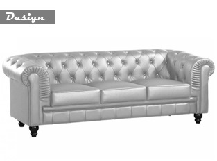 Chesterfield 3 places argent