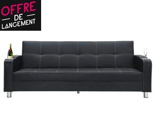 Canapé lit Corabar noir