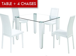 Table à manger 4 chaises Pure
