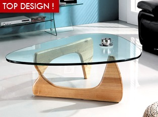 Table basse en verre Boomerang